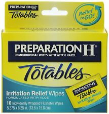 Preparation H Totables Irritation Relief Wipes 10 Each