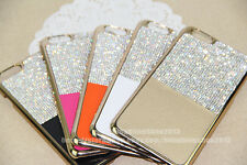 Fashion Bling Swarovski Element Crystal Leather Case Cover For iPhone 6 5 5s