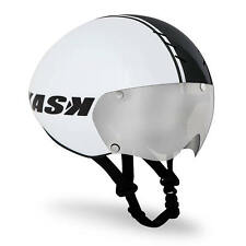 KASK BAMBINO WHITE HELMET (INCLUDES VISOR): Time Trial Tri TT Aero Bike