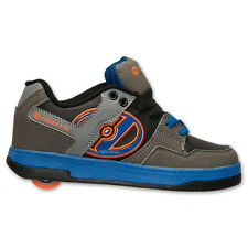 Heelys Boys Youth Skate Shoes Flow Sneakers Grey Gray Blue Orange 770233H New