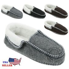 New Women's House Shoes Soft Warm Fleece Suede Cotton Slip-on Indoor Slippers