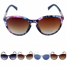 Womens Oversized Cat Eye Sunglasses Round Unisex Eyewear Metal Frame Vintage FST