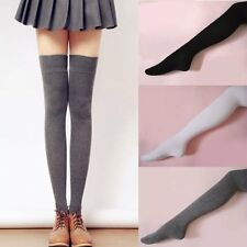 Lady Knitting Lace Solid Over Knee Thigh Stocking High Socks Pantyhose Tight M37