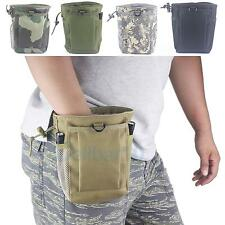 Military Molle Belt Tactical Paintball Magazine Dump Ammo Pouch Utility Bag