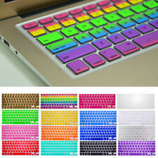 "Silicone Keyboard Rainbow Color Skin Cover For Macbook Pro Air Mac 13"" 15"" 17""CA"