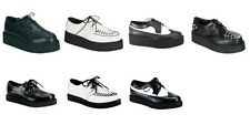 DEMONIA Creeper-402 408 426 602 608 Leather Spider Web Goth Casual Dress Shoes