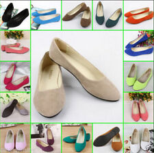 Fashion Women's Casual Flat Shoe Suede Ballet Slip On Flats Loafers Single Shoes