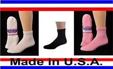 6 Pair Men's Women's Diabetic Cushioned Ankle 1/4 Quarter Socks Sizes