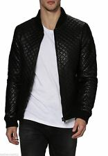 Brand New 100% Genuine Lambskin Leather Designer Jacket Biker Men's - Black