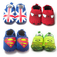 Newborn to 18 Month Baby Boys Girls Cute Pure Cotton Cartoon Soft Sole Shoes
