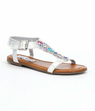 Steve Madden Girls' Jchiaree Casual Sandals SILVER SZ YOUTH 1,5 $40