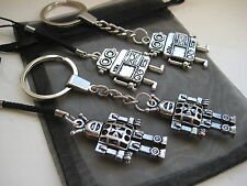 NEW PICK YOUR ROBOT Mobile Phone Keychain Keyring Silver Space Charm Lanyard