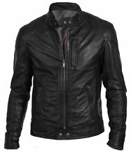 Camicia Uomo Slim Fit Biker Hunt NERO LEATHER JACKET