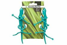 Pack of Two Decorative Bendable Bendy Plant Ties Frog Stick Insect or Gecko NEW