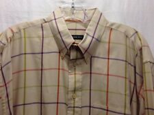 Gitman Bros. Brothers L Large Tan Check Long Sleeved Mens Shirt