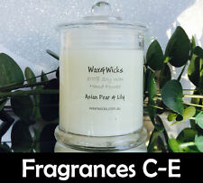 Scented Soy Wax Candle (Scents F-O) 100% Soy Wax - 45hr Burn Time - Danube Jar