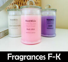 Scented Soy Wax Candle (Scents P-Z) 100% Soy Wax - 30hr Burn Time - Fiesta Jar