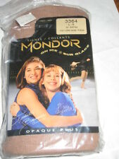 NEW Mondor WOMEN'S Ice dance #3364 82 Suntan Footless Acrylic Nylon TIGHTS S- XL