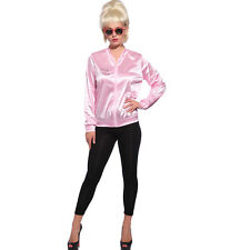 50s Pink Ladies Jacket Grease Shirt Fancy Dress Up 1950s Costume AU Size 6 - 20