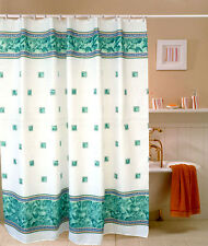 "71"" Waterproof Polyester White Green Plaid Cool Bath Shower Curtain Fabric Decor"