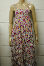 Womens Long Strappy Maxi Dress Violet Flower PrinT Size 12 to 14 WD11