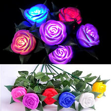 Romantic Colorful Changing Wedding Party Rose Flower LED Light Night Lamp New