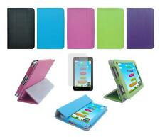 Folio Skin Cover Case and Screen Protector for Toshiba Excite 7c AT7-B8 Tablet
