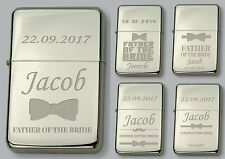 FATHER OF THE BRIDE Personalised lighter IN METAL TIN FREE Engraved WEDDING GIFt