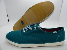 New Box Keds Ch Ox Lake Teal Turquoise WF51835 Women's Cotton Low Tops Sneakers