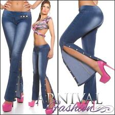 NEW HOT WOMENS DESIGNER JEANS for ladies BOOTLEG DENIM PANTS FLARE JEAN HOTPANTS