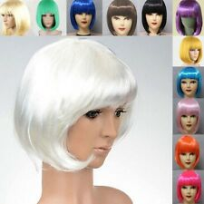 12 Colors Sexy Women Ladies Short Straight BoB Hair Full Wig Cosplay Party Wigs