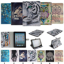 Printing Flip PU Leather Slot Wallet Pouch Tablet Cover Case For Apple iPad