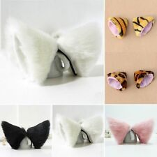 5 Colors Hot New Cosplay Party Anime Costume Cat Fox Ears Long Fur Hair Clip