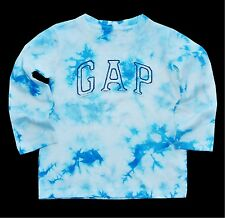 Baby Gap boy tie dye long sleeve crew neck shirt cotton logo tee  2, 3, & 4 NWT