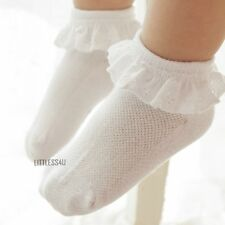 2 Pairs Baby/Kids/Girl Mesh Lace Boat Ankle Socks Trim Hollow Cotton 2-12 Years