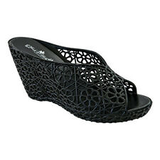Shelley-Black Wedge-Jelly Shoes