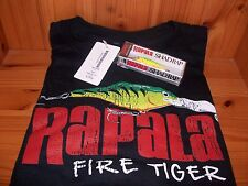 Rapala Fire Tiger Shad Rap Fishing T Shirt - w/ Free Lure Great Christmas Gift