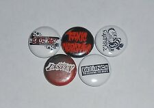 Street Punk Oi Button Lot Clit 45 Toxic Narcotic Defiance The Unseen Casualties
