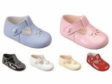 NEW BABY GIRL/BOY BAYPODS FIRST PRAM SHOES BAY PODS BLUE-WHITE-PINK-RED REBORN