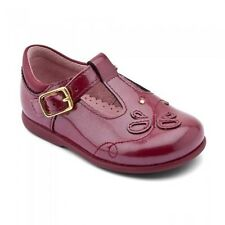NEW Startrite Pixie Dark Red Patent Girls Buckle First walking shoes, 3E - 6.5H