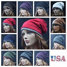 Knit Baggy Beanie Caps Oversize Winter Hat Ski Hunting Hiking Slouch Men Women