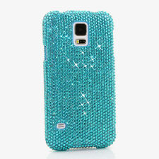 FOR SAMSUNG GALAXY S6 NOTE 5 CRYSTALS BLING CASE COVER TERQUOISE BLUE LUXURY
