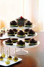 Platter Pleasers Cupcake/Cake Stand - 3 Piece set - White