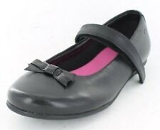 Clarks Daisy Meadow Girls Black Leather School Shoes UK 7 - 12 E - G