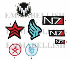 Mass Effect inspired patch paragon renegade Spectre N7