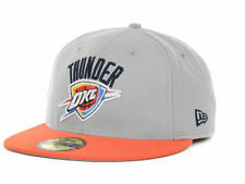 Oklahoma City Thunder New Era NBA Logo Fitted 59FIFTY Cap NWT (Gray) Mens Sizes