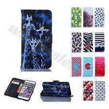 Lovely Hi-Q Faux Leather Embossed Stand Card Armor Case Cover For Various Phones