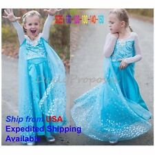 FE12 Disney Frozen Inspired Lace Elsa Costume Dress Girl Cosplay Party 3T-10 #2