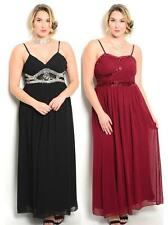 Plus Size 14-16-18-20 Long Cocktail Evening Formal Bridesmaid Maxi Dress Gown