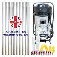 Kiam Gutter Cleaning System KV80 Industrial Wet & Dry Vacuum Cleaner & Pole Kit